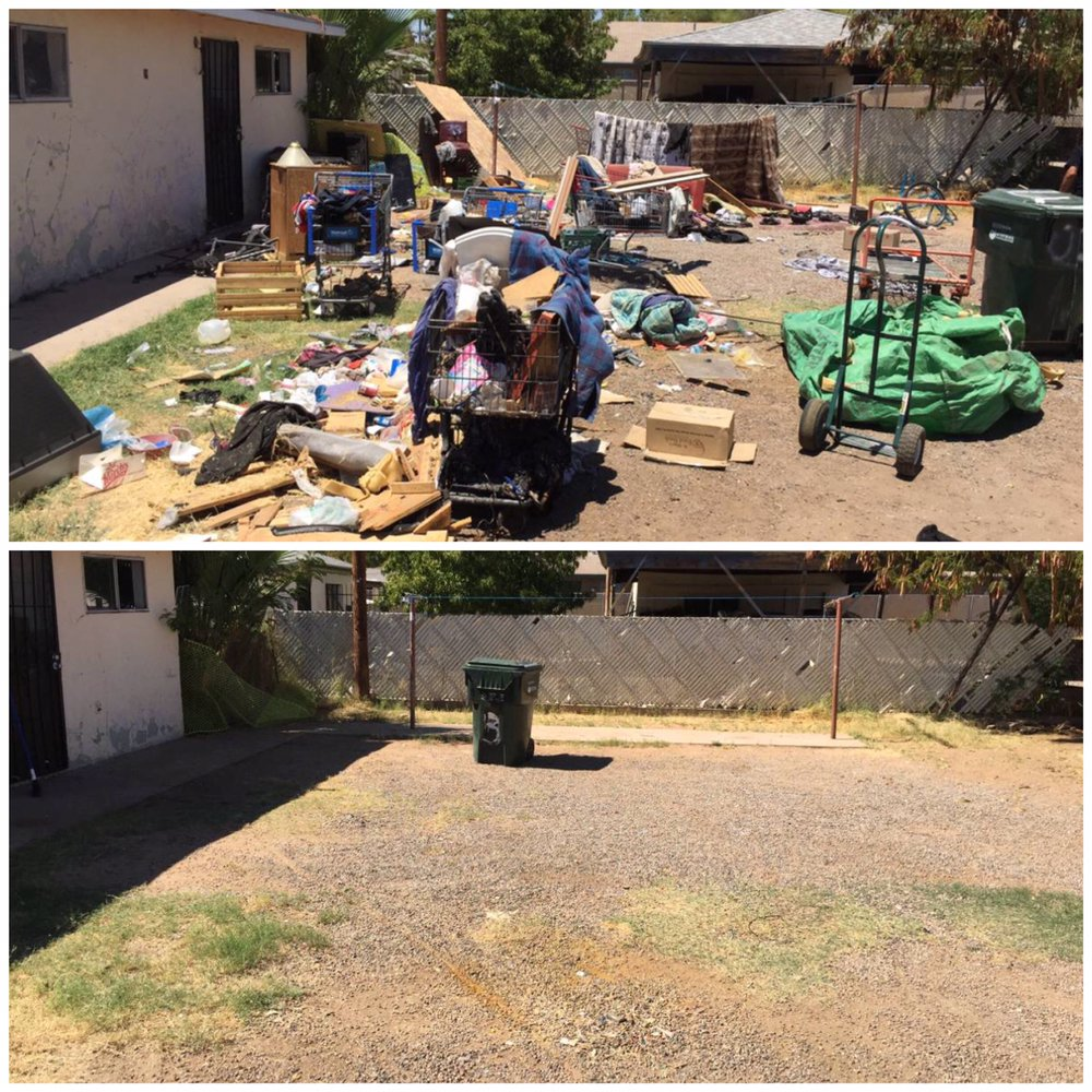 Junk removal before & after
