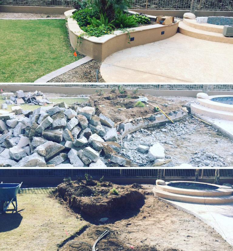 Concrete Patio Demolition Before & After